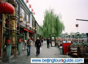 Hutong Bar Street and Shichahai Lake