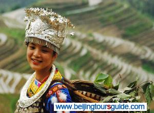 Yao Girl at Longji Terrace Fields